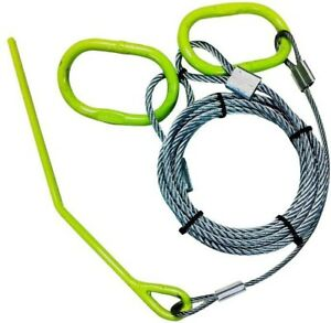 15 Ft Moving Pulling Cable Tow Rings Atv Utv Lawn Tractor Mower Log Choker Kit