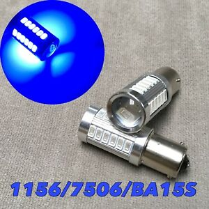 Front Signal Light 1156 Ba15s 7506 3497 P21w 33 Smd Samsung Led Blue For Toyota