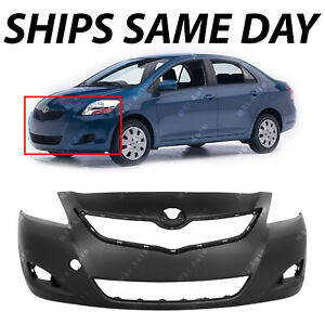 New Primered Front Bumper Fascia Replacement For 2007 2012 Toyota Yaris Sedan