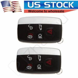 2x New Remote Key Fob 315mhz 5buttons Fit For Land Rover Range Rover Lr4