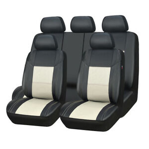 Car Pass11piece Breathable Pu Leather Universal Fit Car Seat Covers Ship From Us