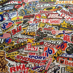 30 Mix Random Stickers Decal Motocross Motorcycle Car Atv Racing Bike Helmet