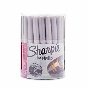 Sharpie Metallic Permanent Markers Fine Point Silver 36 Pack Pens Pencils Office