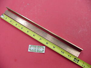 2 Pieces 1 8 X 3 4 C110 Copper Bar 12 Long Solid Flat Mill Bus Bar Stock H02
