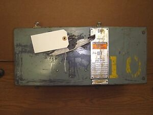 Westinghouse 30 Amp 600 Volt 3 Pole Busway Switch Style 1470599 a