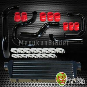 Black Intercooler Piping S rs Bov Flange Red Couplers Kit For Hacura Integra