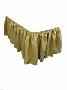 Burlap Table Skirt 17 Ft Skirting Wedding 100 Natural Jute Pleated Skirt