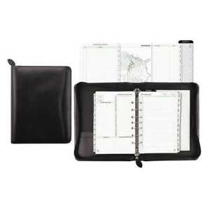 Organizer bonded Leather 5 5x8 5 black Day timer D41745