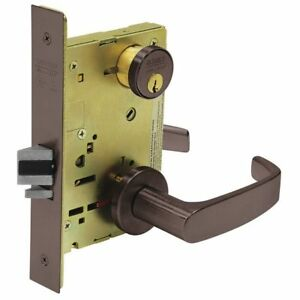 Sargent 8237 Lnl 10b Heavy Duty Mortise Lockset lever grd 1
