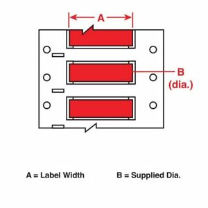 Wire Marking Sleeves red 2 In W Brady 3ps 1000 2 rd