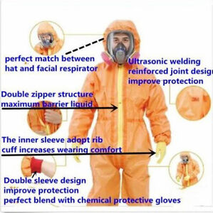 New Protective Coverall Chemical Liquid Nuclear Radiation Protection Suit