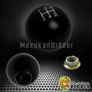 2 Black Round Ball Style 5 Speed Mannual Mt Shift Knob Honda Ef Eg Ek M10x1 5