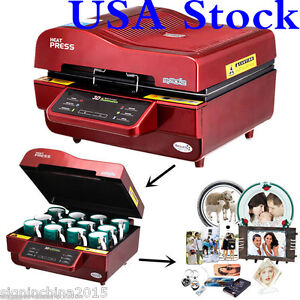 Usa 110v Freesub 3d Sublimation Heat Press Machine For Phone Cases Mugs Cups