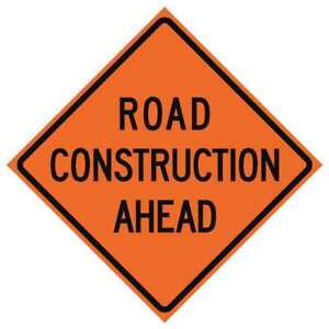 Traffic Sign road Construction H 48 In Usa sign 669 c 48 nrvfo ra