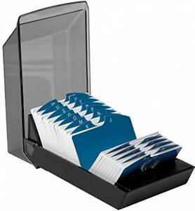 Covered Business Card File Card Rolodex A z Alphabetical Organizer W 500 Cards