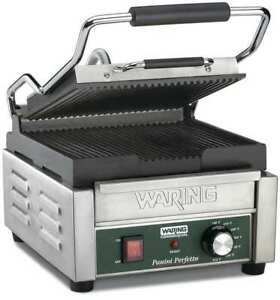Waring Commercial Wpg150b Compact Panini Grill 208v
