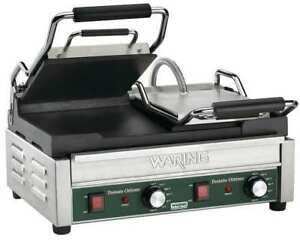 Flat Plates Dual Toasting Grill 240v 3200 Watts Waring Commercial Wfg300