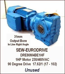 Sew Eurodrive Ac Gear Motor With Reducer Unused