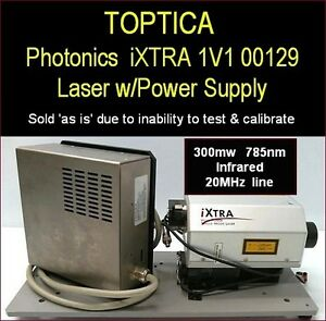 Toptica Ixtra 300mw Raman 20mhz Narrow Line Infrared Research Laser