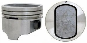 1969 1976 Ford Car 351w Windsor 5 8l Ohv V8 Dish Top Pistons Moly Rings