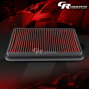 Red Washable High Flow Air Filter For 97 01 Toyota Camry 97 04 Avalon Solora