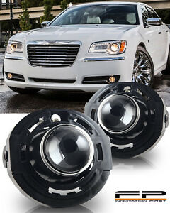 2011 2014 Chrysler 300 Clear Lens Replacement Fog Lights Housing Assembly Pair