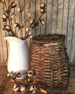 Early Adirondack Youth Trappers Basket With Old Paint