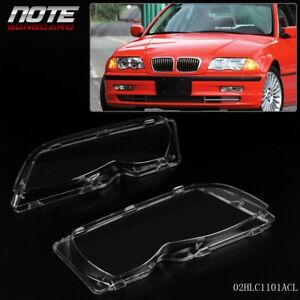 For Bmw E46 4d 320i 325i 325xi 330i 330xi 02 05 Headlight Lenses Clear Cover