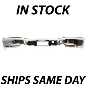 New Chrome Steel Rear Bumper For 1999 2005 Silverado Sierra 1500 Stepside 99 05