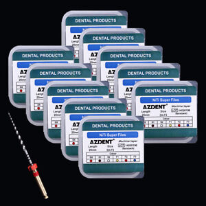Azdent 15 Box Dental Endo Niti Engine Use Rotary Super Files 25mm 6pcs pack