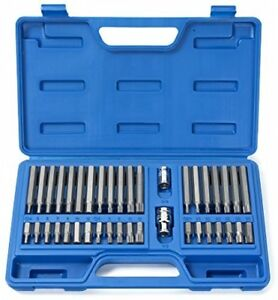 Triple Square Driver Socket Bit Set For Mechanics Long Short Hex Torx And Xzn