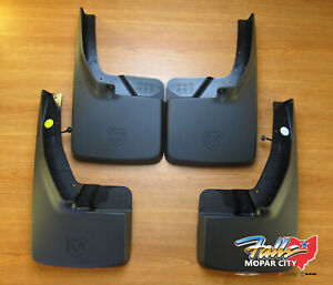 09 2019 Dodge Ram Front And Rear Deluxe Molded Splash Guards Mud Flaps Mopar Oem