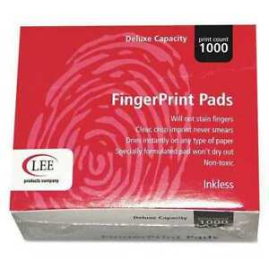 Lee 03127 Inkless Fingerprint Pad Dozen Black Pk12