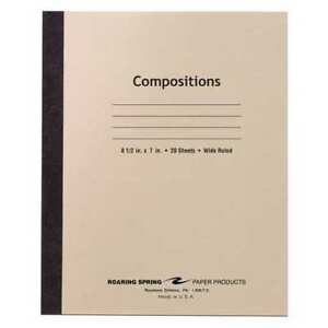 288pk Composition Books 20 Sht 8 5 x7 Flex Manila Wide Roaring Spring 77340