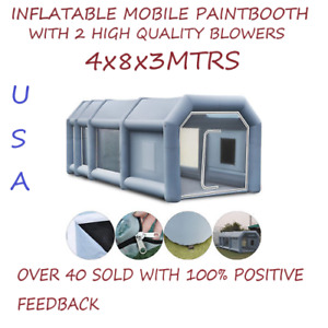 Portable Inflatable Paint Booth W Blowers Size 4x8x3 Meters Ships Fast From Usa