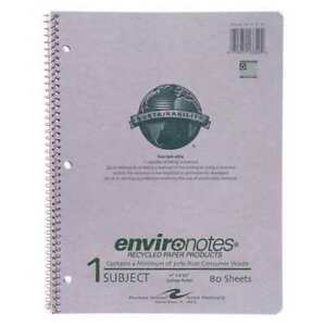 24pk 1 Sub Wire Notebooks 11 x8 5 80 Sht Rec College Rd Roaring Spring 13340
