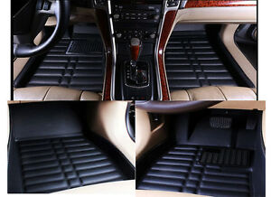 Car Floor Mat Floorliner For Jeep Wrangler 2007 2016 4 door Front rear Black