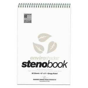 Roaring Spring 12274 Steno Book Grey Paper 4books pack pk6 G7063099