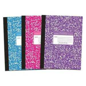 48pk Composition Books 80 Sht 10 25 x8 asst Cvrs College