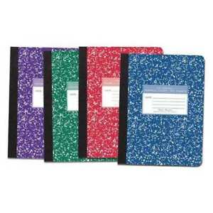 48pk Composition Books 100 Sht 9 75 x7 5 In Wide Rd Roaring Spring 77229