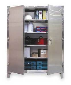 Strong Hold 46 244ss Storage Cabinet 12 Ga 78 In H 48 In W