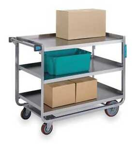 Utility Cart stainless Steel 2 Shelves