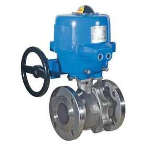 Electric Actuated ss Flanged ball Valve