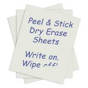 C line Products 57724 Peel stick Erase Sheets 24 X 17 Pk15