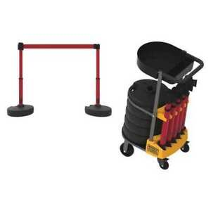 Plus Cart Pkg W tray Blank Red Banner Banner Stakes Pl4000 rt