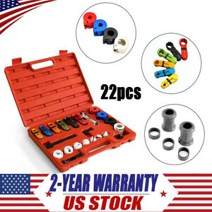 22pc Deluxe A C Fuel Transmission Line Disconnect Tool Set Kit For Ford Gm New