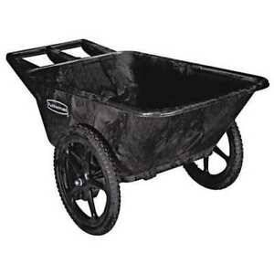 Utility Cart Big Wheel Black Rubbermaid Commercial Rcp 5642 Bla