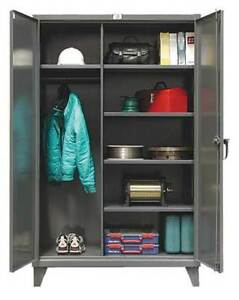 Strong Hold 46 w 245 Combination Storage Cabinet Dark Gray