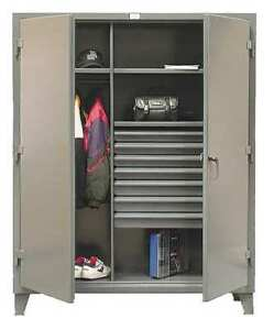 Combination Storage Cabinet Gray Strong Hold 56 w 243 7db