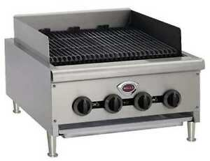 Wells Manufacturing Hdcb2430 4 Burners Gas Countertop Charbroiler 18 1 8 X